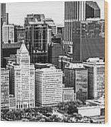 Chicago Skyline Aerial Panorama Photo Wood Print