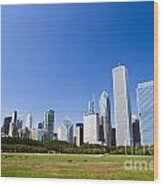Chicago Skyline From Grant Park Wood Print