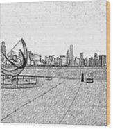 Chicago Skyline Hard Ink Wood Print