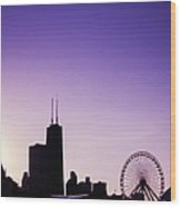 Chicago Skyline Iv Wood Print