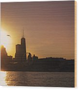 Chicago Skyline V Wood Print