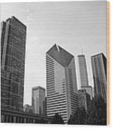 Chicago Skyscrapers Wood Print by Mike Maher