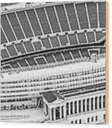 Chicago Soldier Field Aerial Panorama Photo Wood Print