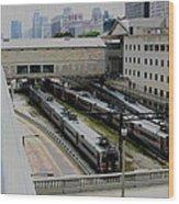 Chicago - South Shore Train Yard Wood Print
