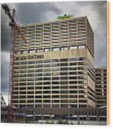 Chicago Sun Times Facade After The Storm Wood Print