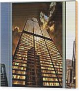 Chicago Tall Shoulders Trump Sears 333 W Wacker Triptych 3 Panel 01 Wood Print