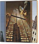 Chicago Tall Shoulders Trump Sears Tribune Triptych 3 Panel 01 Wood Print