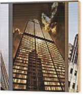 Chicago Tall Shoulders Trump Sears Tribune Triptych 3 Panel 02 Wood Print