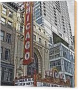 Chicago Theater Facade Northside Wood Print