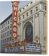 Chicago Theater Facade Southside Wood Print