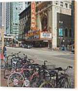 Chicago Theater Marquee Sign On State Street Wood Print