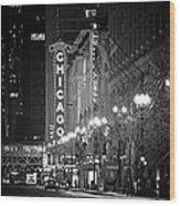 Chicago Theatre - Grandeur And Elegance Wood Print