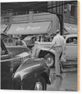 Chicago Traffic, 1941 Wood Print