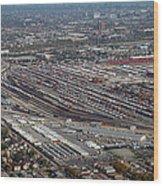 Chicago Transportation 01 Wood Print