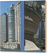 Chicago Trump Tower Under Const 2 Panel Wood Print