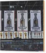 Chicago United Center Banners Wood Print