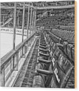 Chicago United Center Before The Gates Open Blackhawk Seat One Bw Hdr Wood Print
