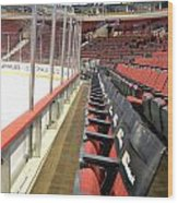Chicago United Center Before The Gates Open Blackhawk Seat One Wood Print