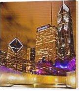 Chicago Walkway Wood Print