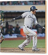 Chicago White Sox V Oakland Athletics Wood Print