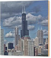 Chicago Willis Sears Tower Wood Print