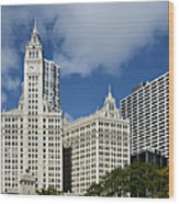 Chicago - Wrigley Building Wood Print