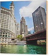 Chicago Wrigley Tribune Equitable Buildings Photo Wood Print