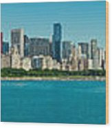Chicago's Lakefront Panorama Wood Print