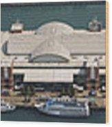 Chicago's Navy Pier Aerial Panoramic Wood Print