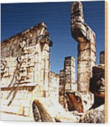 Chichen Itza - Chac Mool Guardian Wood Print