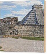 Chichen Itza - Mexico. View On El Castillo Pyramid. Wood Print