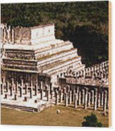 Chichen Itza - Temple Of Columns Wood Print