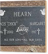 Chick Hearn Grave Wood Print