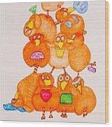 Chickadee Chick 10 Wood Print
