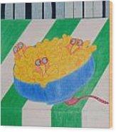 Chickadee Chick Macaroni Wood Print