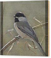 Chickadee Early Bird II Wood Print
