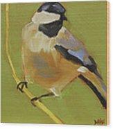 Chickadee I Wood Print