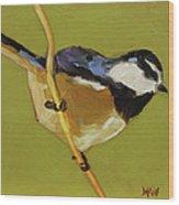 Chickadee V Wood Print