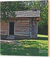 Chickamauga Cabin Wood Print