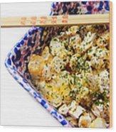 Chicken Cheese Potato Casserole Wood Print