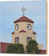 Chicken Church Wood Print