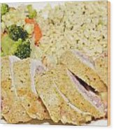 Chicken Cordon Blue  Wood Print by Susan Leggett