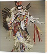 Pow Wow Dreamtime 1 Wood Print
