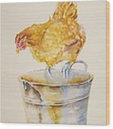 Chicken Feed Wood Print