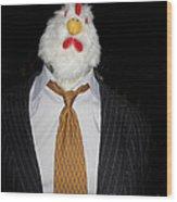 Chicken Man Wood Print