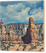 Chicken Point Sedona Arizona Wood Print