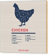 Chicken With Specified Type Of Meat Wood Print