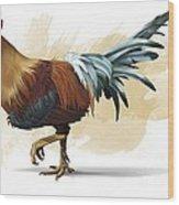 Chickenosaurus, Artwork Wood Print