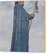 Chief Black Hawk At The Watch Tower Plaza Wood Print