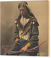 Chief Bone Necklace Of The Lakota 1899 Wood Print